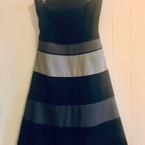 BCBG black & gray strapless dress